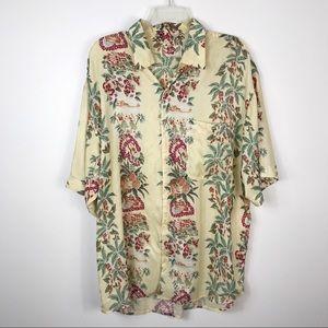 Hilo Hattie 100% Silk Hawaiian Aloha Shirt